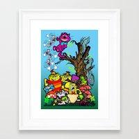 wonderland Framed Art Prints featuring wonderland by MR. VELA