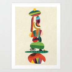 Totem - balanced pebbles Art Print