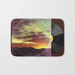 American Sunset As Vintage Album Art Bath Mat