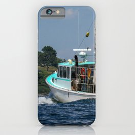 Lobster Boat in Portland, Maine iPhone Case