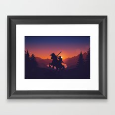 Legend Of Zelda Link Framed Art Print