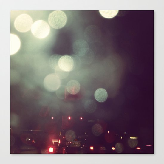 Bokeh @ Night Canvas Print