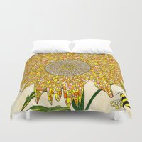 georgia Duvet Covers featuring Georgia Sunflower by valerie lorimer