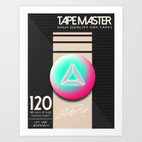 TAPEMASTER (Mock Blank VHS Poster) Art Print