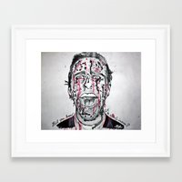 american psycho Framed Art Prints featuring American Psycho  by pmaiti