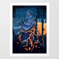android Art Prints featuring Android by Nicolas Villeminot