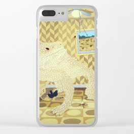 Horned Lizard Clear iPhone Case