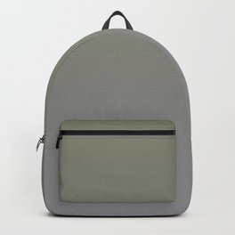 Green and Grey Gradient Blend Pantone 2021 Color of the Year Ultimate Gray 17-5104 Backpack