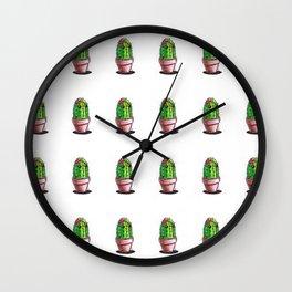 Cute Cactus Wall Clock