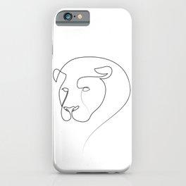 Linear Lion iPhone Case