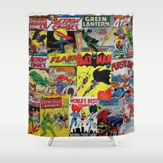 Comic Pile 1 Shower Curtain