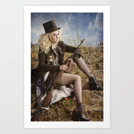 The Girl with the Gun Art Print