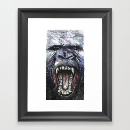 King Kong Framed Art Print