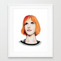 hayley williams Framed Art Prints featuring Hayley Williams by Jayde Tayla