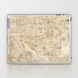 Tucson Arizona watercolor city map Laptop & iPad Skin