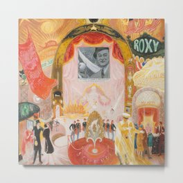 """Florine Stettheimer """"The Cathedrals of Broadway"""" Metal Print"""