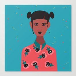 Hairbuns & PrintShirts Canvas Print