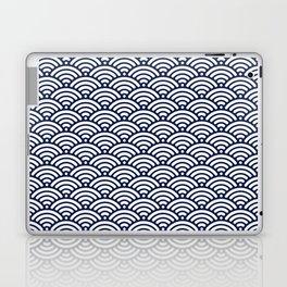 Navy Blue Wave Laptop & iPad Skin