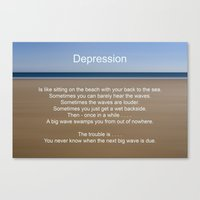depression Canvas Prints featuring Depression by PICSL8