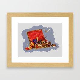 Magic Suitcase Framed Art Print