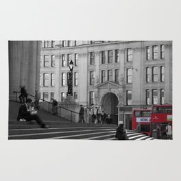 The Steps of St Paul's and London Buses Rug