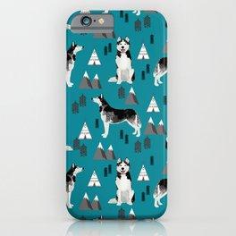 Husky siberian huskies mountains pet portrait dog dogs pet friendly dog breeds gifts iPhone Case