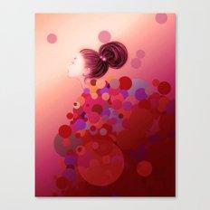 Pink○●◎ Canvas Print
