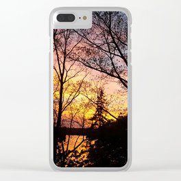 EaglesSprings Sunset 1 Clear iPhone Case