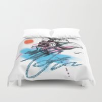 rogue Duvet Covers featuring Rogue Bun - coloured  by Mandy Maria