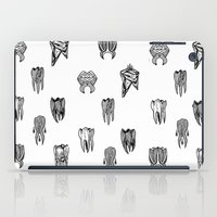 tooth iPad Cases featuring Tooth 4 tooth by comma black
