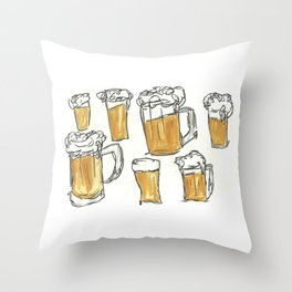 beers Throw Pillow