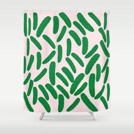 Cute Pickles Shower Curtain
