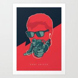 Baby Driver Art Print