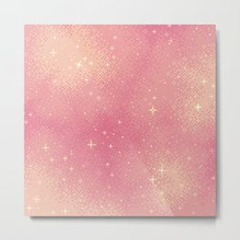 Rose Gold Galaxy Metal Print