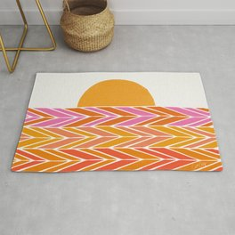 Retro Sunset – Pink & Yellow Rug