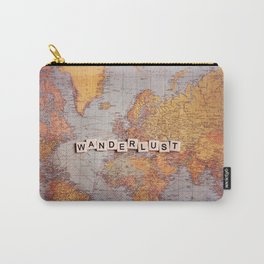 wanderlust map Carry-All Pouch