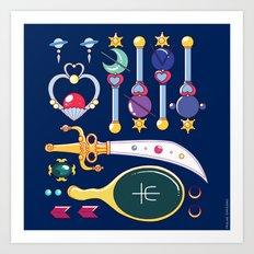 Outer Senshi Starter Kit  Art Print