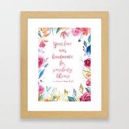 Floral lyrics Framed Art Print