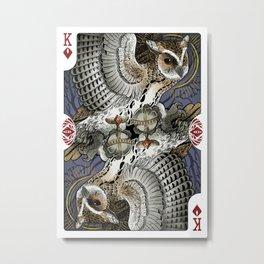Owl Deck: King of Diamonds Metal Print