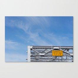 Clearance Canvas Print