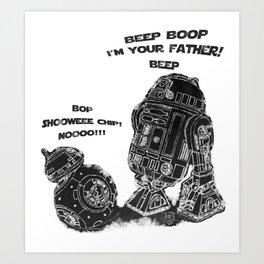 R2D2 Meet BB8 Art Print