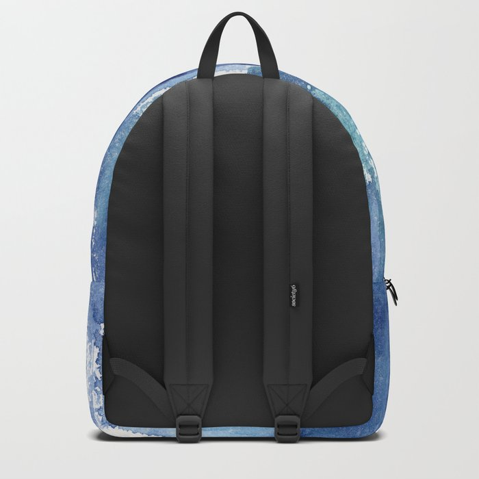 Blue vibes #2 || watercolor Backpack