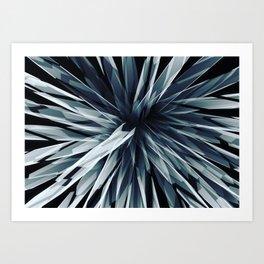 Perspective Facets-Retro Blue Art Print