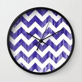 Purple Watercolor Chevron Wall Clock