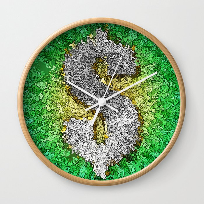 Dollar Sign Pop Art Wall Clock