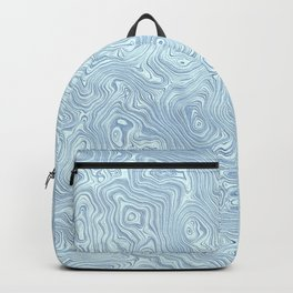 Baby Blue Silk Moire Pattern Backpack
