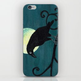Raven and a Full Moon iPhone Skin