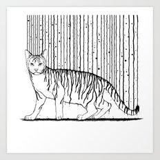 Inkcat5 Art Print