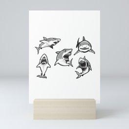 Angry Sharks Mini Art Print