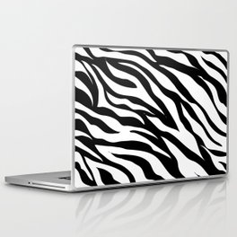 modern safari animal print black and white zebra stripes Laptop & iPad Skin